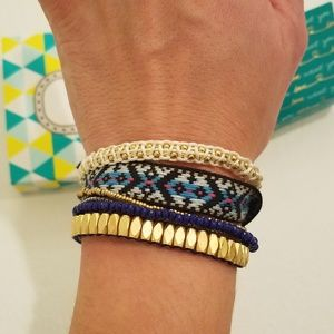 Stella & Dot Gold Vista Wrap Bracelet